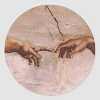 Sistine Chapel Ceiling Round Stickers