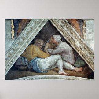 Sistine Chapel Ceiling: The Ancestors of Christ Poster