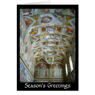 sistine chapel greetings card