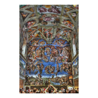 Sistine Chapel, Vatican City, Rome, Italy Poster