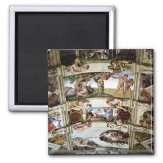 Sistine Chapel, Vatican, Rome, Italy Square Magnet