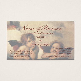 Sistine Madonna Angels by Raphael Raffaello Business Card