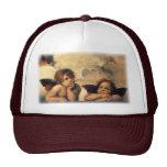 Sistine Madonna Angels by Raphael, Renaissance Art Mesh Hats