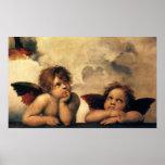 Sistine Madonna Angels by Raphael, Renaissance Art Print