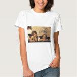Sistine Madonna, Angels detail by Raphael T-shirts