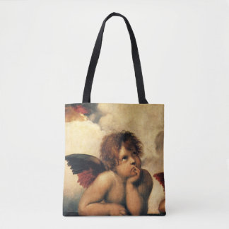 Sistine Madonna, Angels detail by Raphael Tote Bag