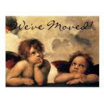 Sistine Madonna Angels, Raphael, Change of Address Postcard