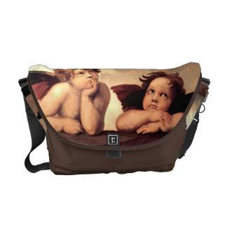 Sistine Madonna Cherubs Raffaelo Sanzio Courier Bags