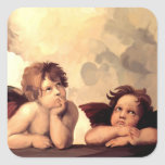 Sistine Madonna Cherubs Raffaelo Sanzio Stickers