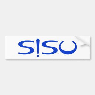 SISU Exclamation Blue White Finnish Bumper Sticker