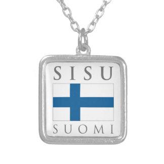 Sisu Suomi Square Pendant Necklace
