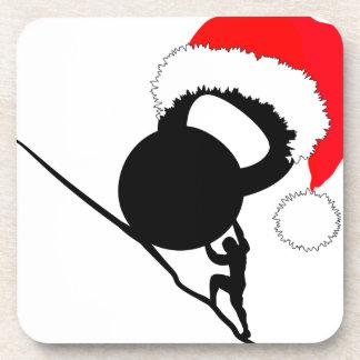 Sisyphus Kettlebell Merry Christmas Drink Coasters
