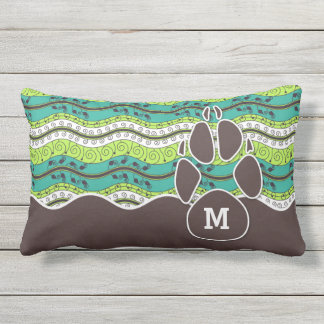 Sit and Stay Monogrammed Dog Lover Lumbar Cushion
