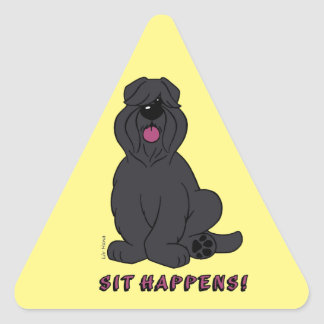 Sit happens triangle sticker