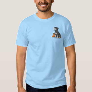 Sit Schnauzer Rally-O Embroidered T-Shirt