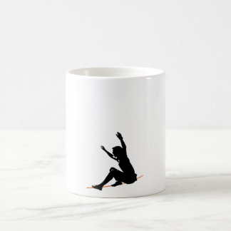 sit start on the line basic white mug
