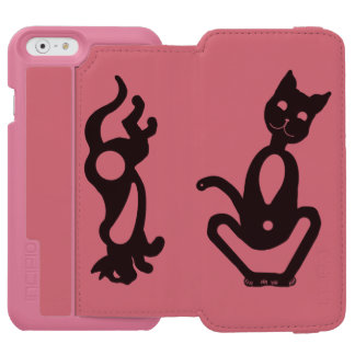 SITTING AND RUNNING CAT by Slipperywindow Incipio Watson™ iPhone 6 Wallet Case