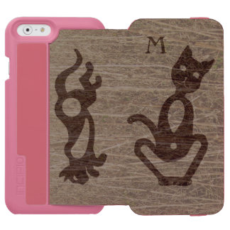 SITTING AND RUNNING TEXTURED CAT by Slipperywindow Incipio Watson™ iPhone 6 Wallet Case