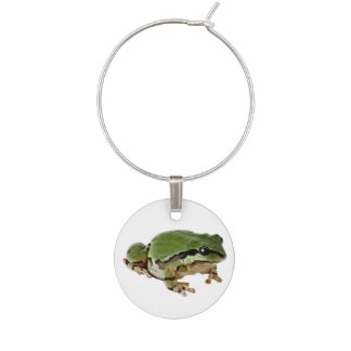 Sitting Arizona Tree Frog Photograph Wine Charm