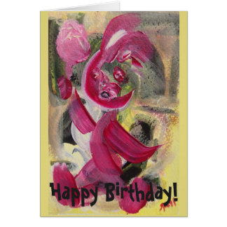 Sitting Baby Hand-Painted Happy Birthday Cards