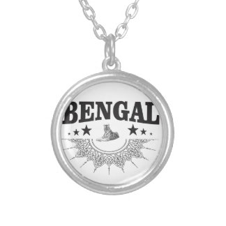 Sitting Bengal Silver Plated Necklace