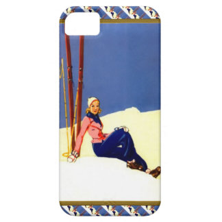Sitting beside the ski slopes iPhone 5 covers