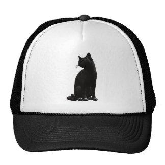 Sitting Black Cat Hat