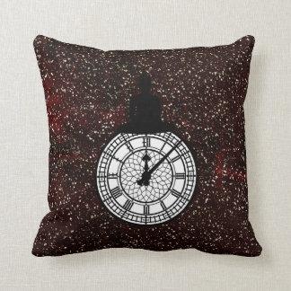 Sitting Budda Londoner Big Ban Clock Burgundy Cushion
