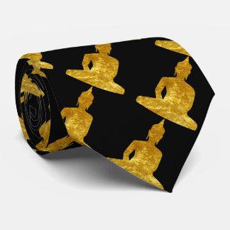 Sitting Buddha in Gold Tie