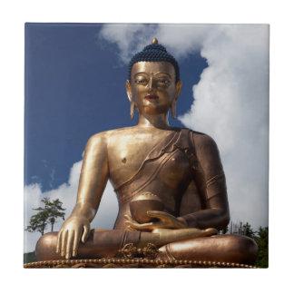 Sitting Buddha Statue Ceramic Tile