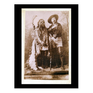 Sitting Bull and Buffalo Bill 1895 Postcard