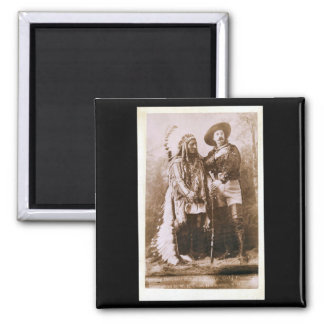 Sitting Bull and Buffalo Bill 1895 Square Magnet