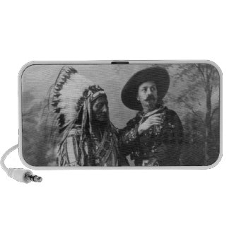 Sitting Bull and Buffalo Bill Portrait from 1885 Mp3 Speakers