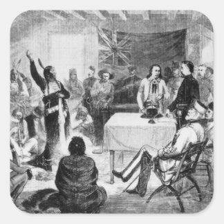 Sitting Bull Council, 1877 Square Sticker