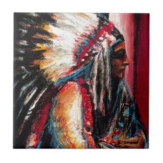 Sitting Bull in Color Ceramic Tile