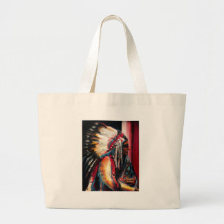 Sitting Bull in Color Large Tote Bag