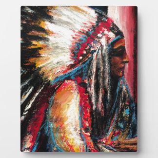 Sitting Bull in Color Plaque