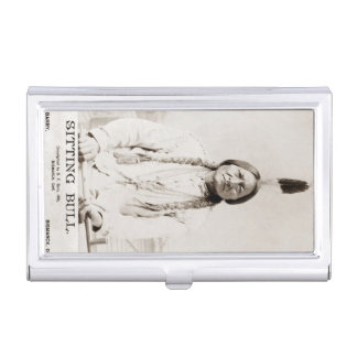 Sitting Bull Vintage Native American Medicine Man Case For Business Cards