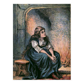 """Sitting by the Fire"" Vintage Illustration Postcard"