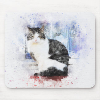 Sitting by the Window | Abstract | Watercolor Mouse Pad