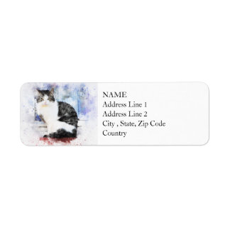 Sitting by the Window | Abstract | Watercolor Return Address Label