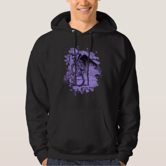 Sitting Demon - bleached violet Hooded Pullover