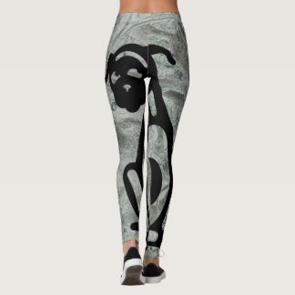 SITTING DOG ICON by Slipperywindow Leggings
