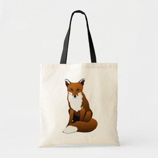 Sitting Fox Canvas Bag