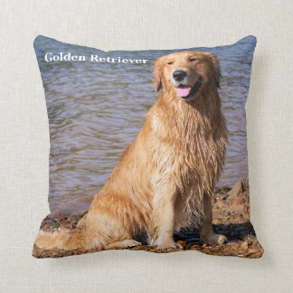 Sitting Golden Retriever Cushion