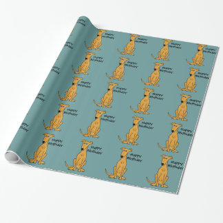 Sitting Greyhound Dog Birthday Giftwrap Wrapping Paper