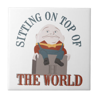 Sitting Humpty Dumpty Small Square Tile