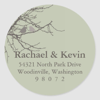 Sitting in a Tree Round Address Label Round Sticker