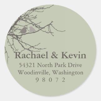 Sitting in a Tree Round Address Label Sticker