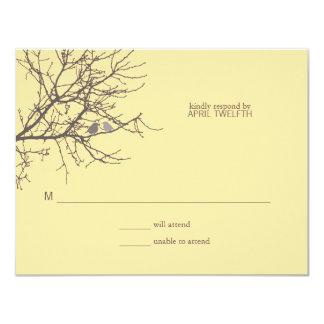Sitting in a Tree Wedding Response 11 Cm X 14 Cm Invitation Card